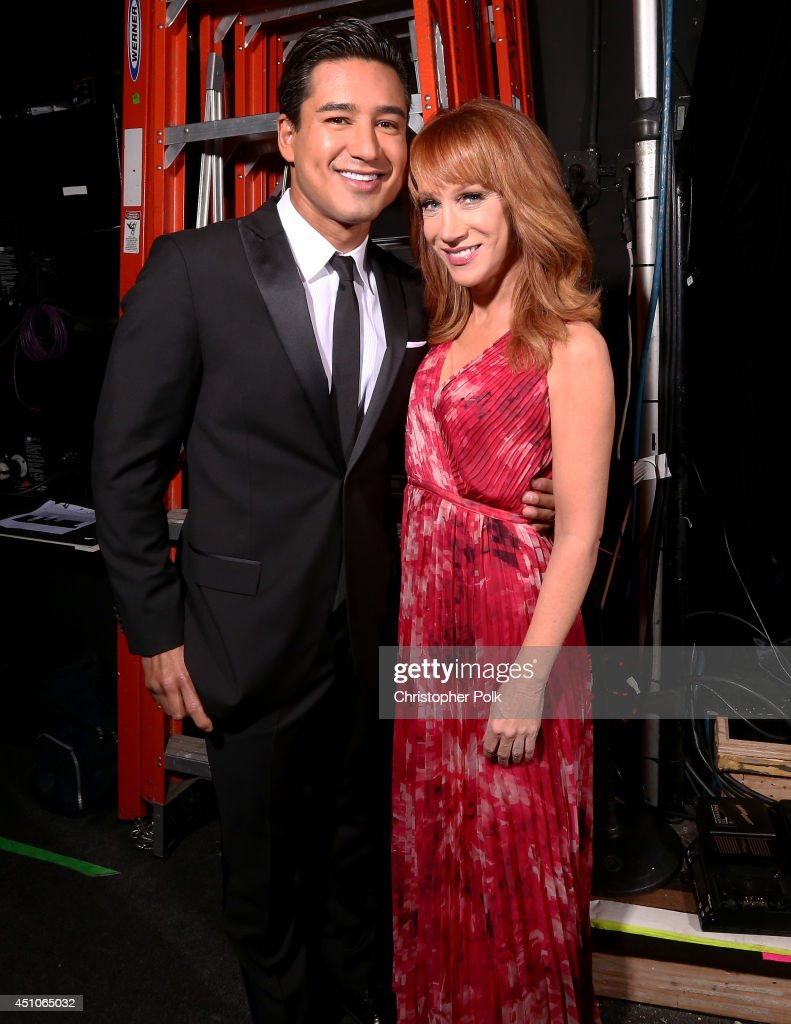 TV personality Mario López (L) and comedian Kathy Griffin attends The 41st Annual Daytime Emmy Awards at The Beverly Hilton Hotel on June 22, 2014 in Beverly Hills, California.