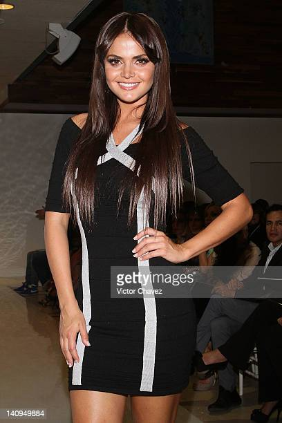 TV personality Marisol Gonzalez attends the Daniel Espinosa collection jewelry 2012 fashion show at Sport City on March 8 2012 in Mexico City Mexico