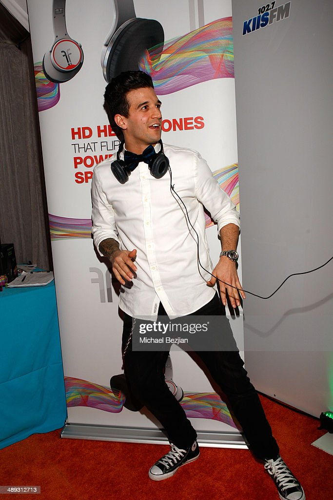 TV personality Mark Ballas with Flips Audio, the exclusive headphone sponsor of 102.7 KIIS FM's 2014 Wango Tango, backstage at StubHub Center on May 10, 2014 in Los Angeles, California.