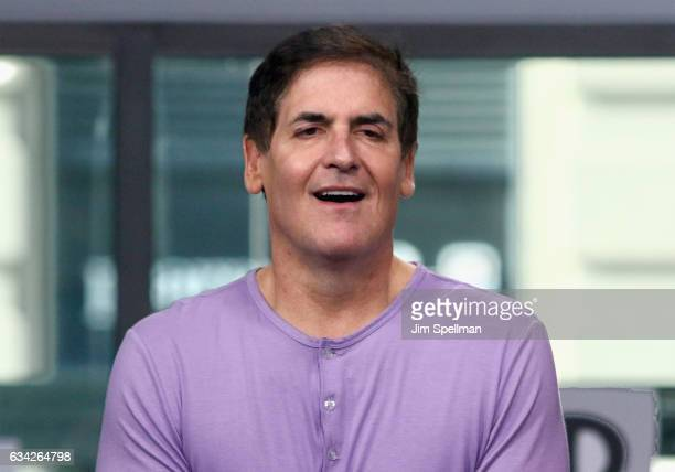 TV personality Mark Cuban attends the Build series to Discuss Shark Tank at Build Studio on February 8 2017 in New York City