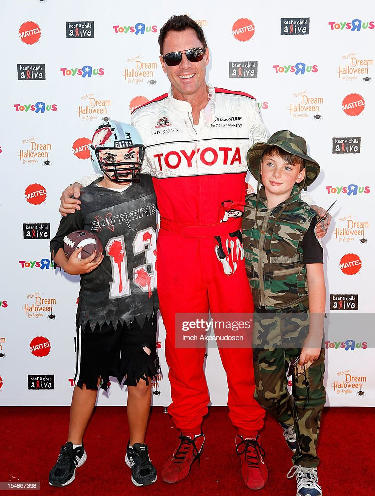 TV personality Mark Steines (C) attends the 2012 'Dream Halloween' presented by Keep A Child Alive at Barker Hangar on October 27, 2012 in Santa Monica, California.
