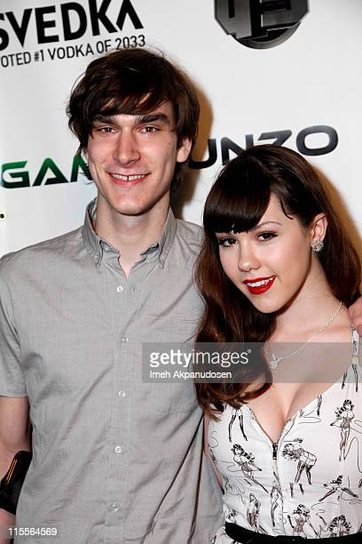 TV personality Marston Hefner and Playmate Claire Sinclair attend the E3 Red Carpet Launch Party at Suede at the Westin Bonaventure Hotel on June 7...
