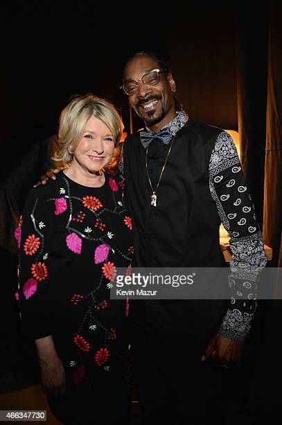 TV personality Martha Stewart and recording artist Snoop Dogg attend The Comedy Central Roast of Justin Bieber at Sony Pictures Studios on March 14...