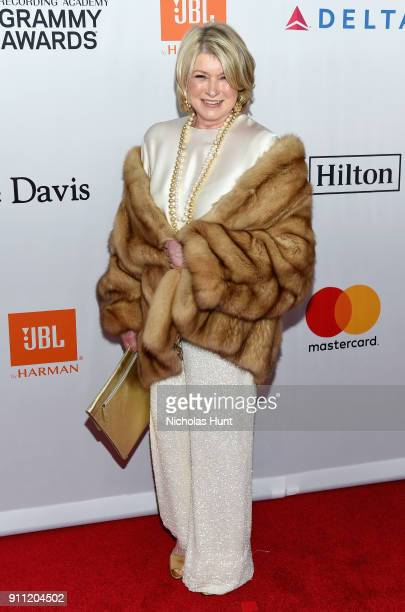 TV personality Martha Stewart attends the Clive Davis and Recording Academy PreGRAMMY Gala and GRAMMY Salute to Industry Icons Honoring JayZ on...