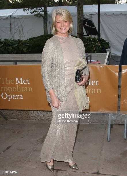 TV personality Martha Stewart attends the Metropolitan Opera season opening with a performance of 'Tosca' at the Lincoln Center for the Performing...