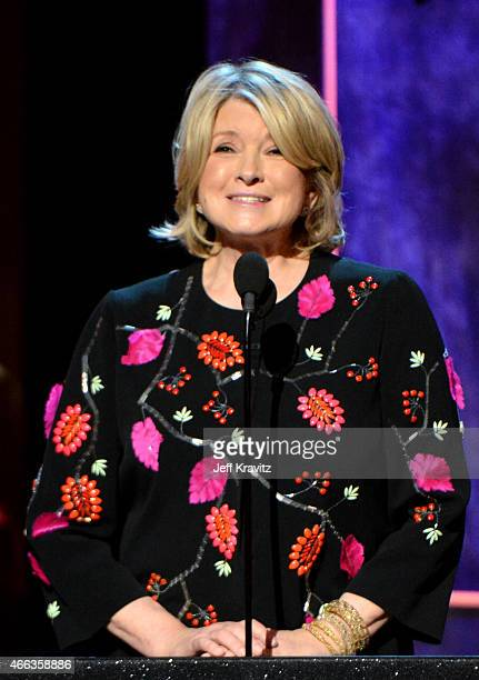 Personality Martha Stewart speaks onstage at The Comedy Central Roast of Justin Bieber at Sony Pictures Studios on March 14, 2015 in Los Angeles,...