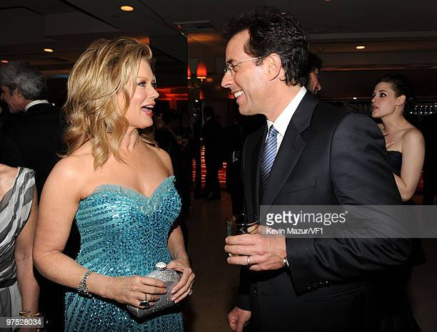 Personality Mary Hart and actor Jerry Seinfeld attend the 2010 Vanity Fair Oscar Party hosted by Graydon Carter at the Sunset Tower Hotel on March 7,...
