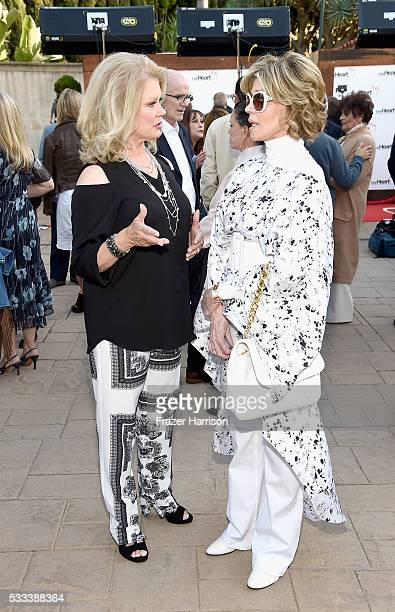 TV personality Mary Hart and actress Jane Fonda attend The Heart Foundation 20th Anniversary Event honoring Discovery Land Company's Mike Meldman at...