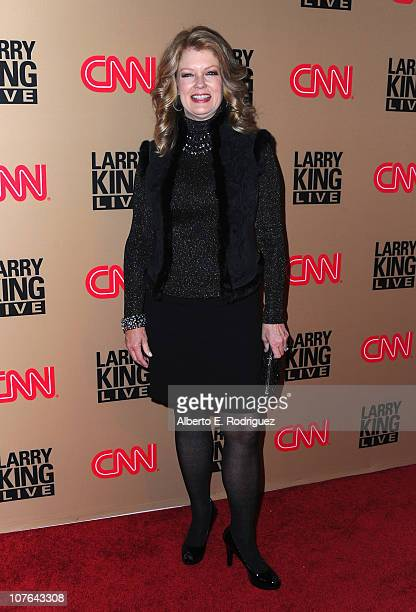 """Personality Mary Hart arrives at CNN's """"Larry King Live"""" final broadcast party at Spago restaurant on December 16, 2010 in Beverly Hills, California."""