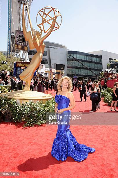 Personality Mary Hart arrives at the 62nd Annual Primetime Emmy Awards held at the Nokia Theatre LA Live on August 29 2010 in Los Angeles California