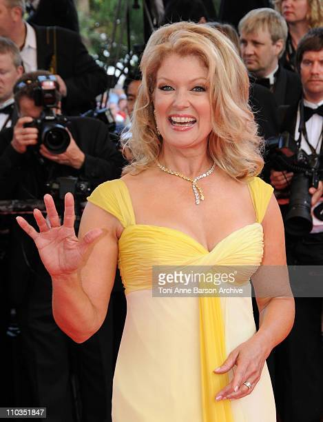 TV personality Mary Hart attends the Kung Fu Panda premiere at the Palais des Festivals during the 61st Cannes International Film Festival on May 15...