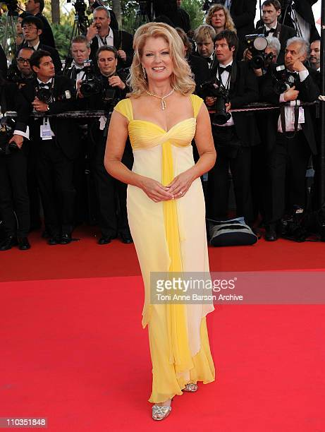 TV personality Mary Hart attends the 'Kung Fu Panda' premiere at the Palais des Festivals during the 61st Cannes International Film Festival on May...