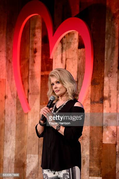 TV personality Mary Hart speaks on stage atThe Heart Foundation 20th Anniversary Event honoring Discovery Land Company's Mike Meldman at the Green...