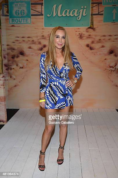 TV personality Marysol Patton attends the Maaji Swimwear fashion show during Miami Swim Week 2016 at the FUNKSHION Tent on July 19 2015 in Miami...