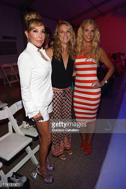 TV personality Marysol Patton Nanette Lepore and Alexia Echevarria attend the Mara Hoffman Swim show during MercedesBenz Fashion Week Swim 2014 at...