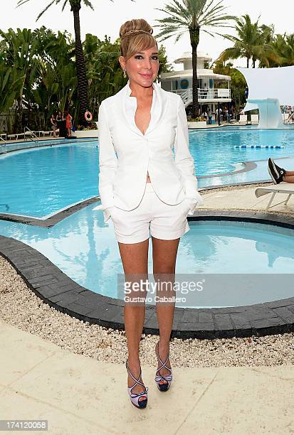 TV personality Marysol Patton seen during MercedesBenz Fashion Week Swim 2013 at the Raleigh on July 20 2013 in Miami Beach Florida