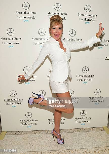 TV personality Marysol Patton seen during MercedesBenz Fashion Week Swim 2014 at the Raleigh on July 20 2013 in Miami Beach Florida