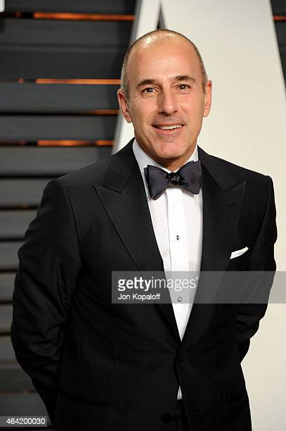 TV personality Matt Lauer attends the 2015 Vanity Fair Oscar Party hosted by Graydon Carter at Wallis Annenberg Center for the Performing Arts on...