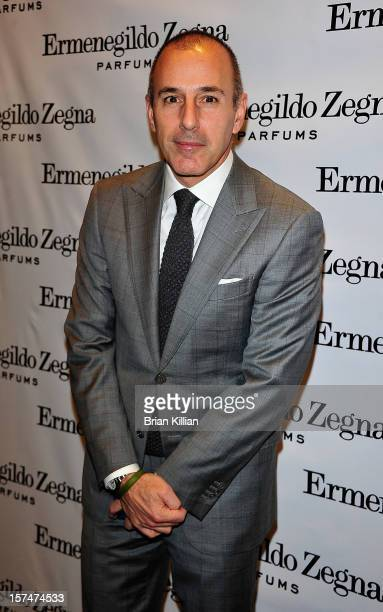 """Personality Matt Lauer attends the """"Essenze"""" Collection Launch Event at The Ermenegildo Zegna Boutique on December 3, 2012 in New York City."""