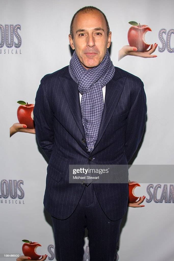 TV personality Matt Lauer attends the 'Scandalous' Broadway Opening Night' at Neil Simon Theatre on November 15, 2012 in New York City.