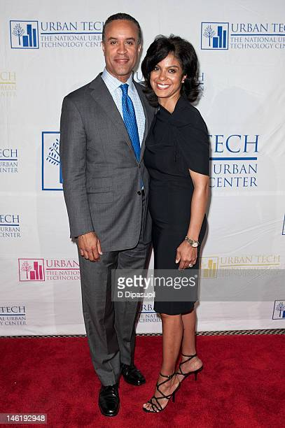 TV personality Maurice DuBois and wife Andrea DuBois attend the 17th Annual National Urban Technology Center Gala at Capitale on June 11 2012 in New...