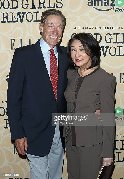 TV personality Maury Povich and journalist Connie Chung attend the Good Girls Revolt New York screening at the Joseph Urban Theater at Hearst Tower...