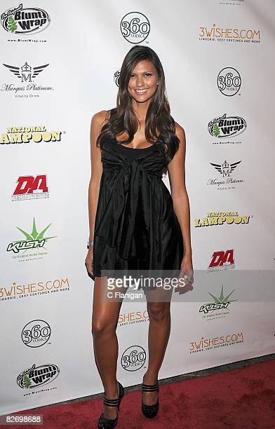 Personality Megan Abrigo attends National Lampoon's A Night of Fantasy with The Girls Next Door Ludacris at The Playboy Mansion on September 6 2008...