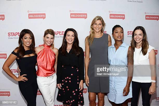 TV personality Megan Telles actress Lori Loughlin Staples Senior Vice President Liz Haesler professional beach volleyball player Gabrielle Reece...
