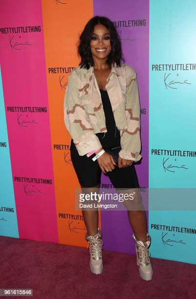 TV personality Meghan James attends the PrettyLittleThing x Karl Kani event at Nightingale Plaza on May 22 2018 in Los Angeles California