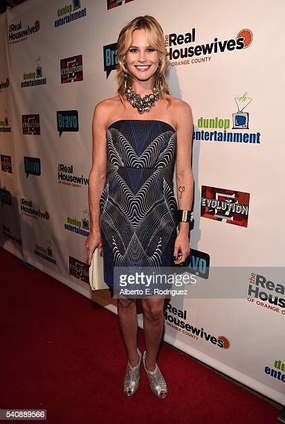 TV personality Meghan King Edmonds attends the premiere party for Bravo's The Real Housewives of Orange County 10 year celebration at Boulevard3 on...