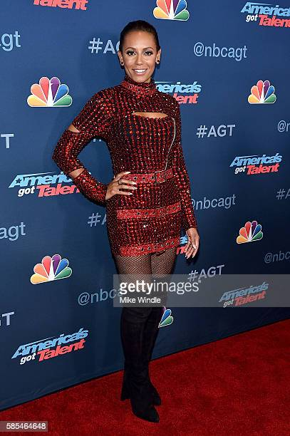 Personality Mel B attends NBC's 'America's Got Talent' Season 11 Live Show at Dolby Theatre on August 2 2016 in Hollywood California