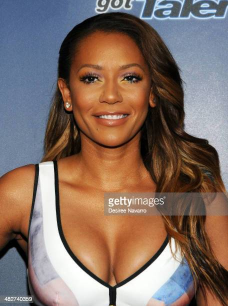 TV personality Mel B attends the 'America's Got Talent' Red Carpet Event at Madison Square Garden on April 4 2014 in New York City