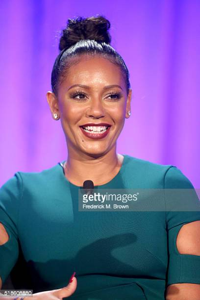 TV personality Mel B speaks onstage during the 'America's Got Talent' panel at the 2016 NBCUniversal Summer Press Day at Four Seasons Hotel Westlake...