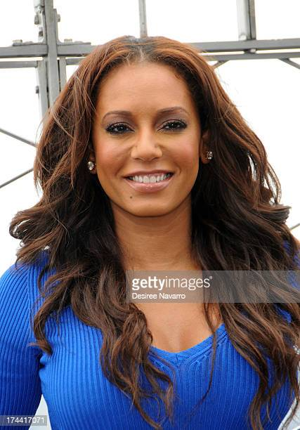 TV personality Mel B visits The Empire State Building on July 25 2013 in New York City