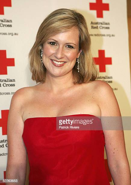 TV personality Melissa Doyle attends the Australian Red Cross 90th Anniversary Gala at the Westin Hotel March 2 2005 in Sydney Australia
