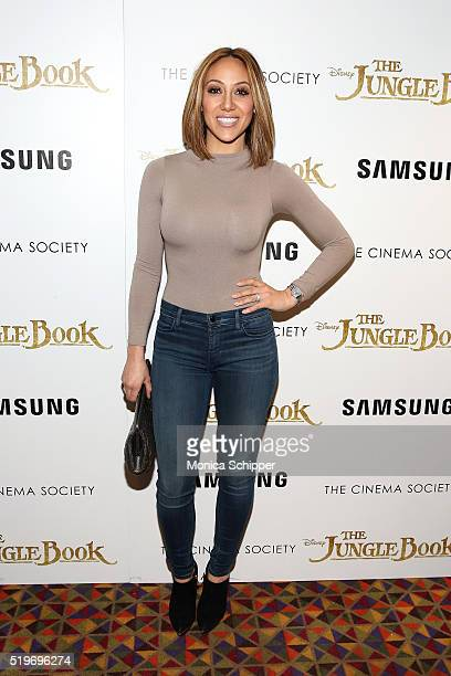 TV personality Melissa Gorga attends Disney With The Cinema Society Samsung Host A Screening Of The Jungle Book at AMC Empire 25 theater on April 7...