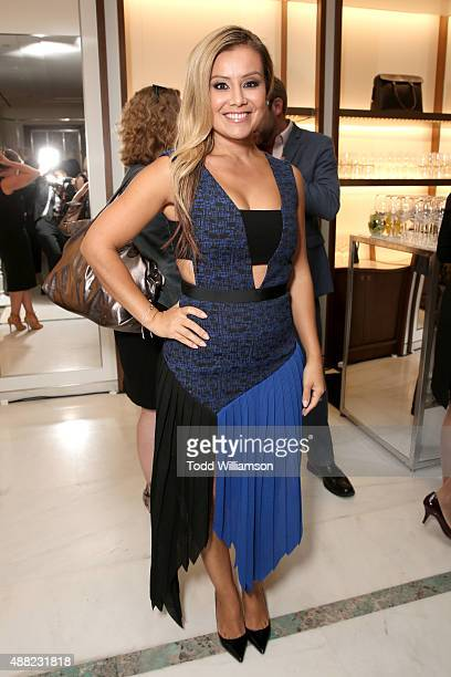 TV personality Melissa Grelo attends the Tiffany Co cocktail party during the 2015 Toronto International Film Festival at on September 14 2015 in...