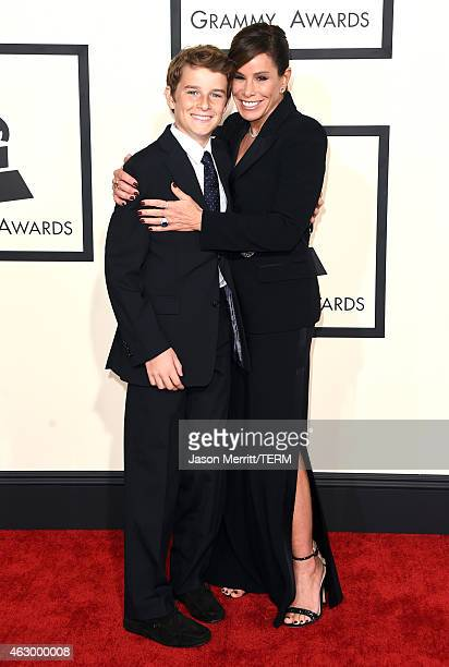 TV personality Melissa Rivers and Cooper Endicott attend The 57th Annual GRAMMY Awards at the STAPLES Center on February 8 2015 in Los Angeles...
