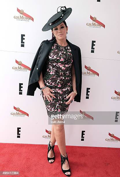 Personality Melissa Rivers poses at the Mumm Marquee on Melbourne Cup Day at Flemington Racecourse on November 3 2015 in Melbourne Australia