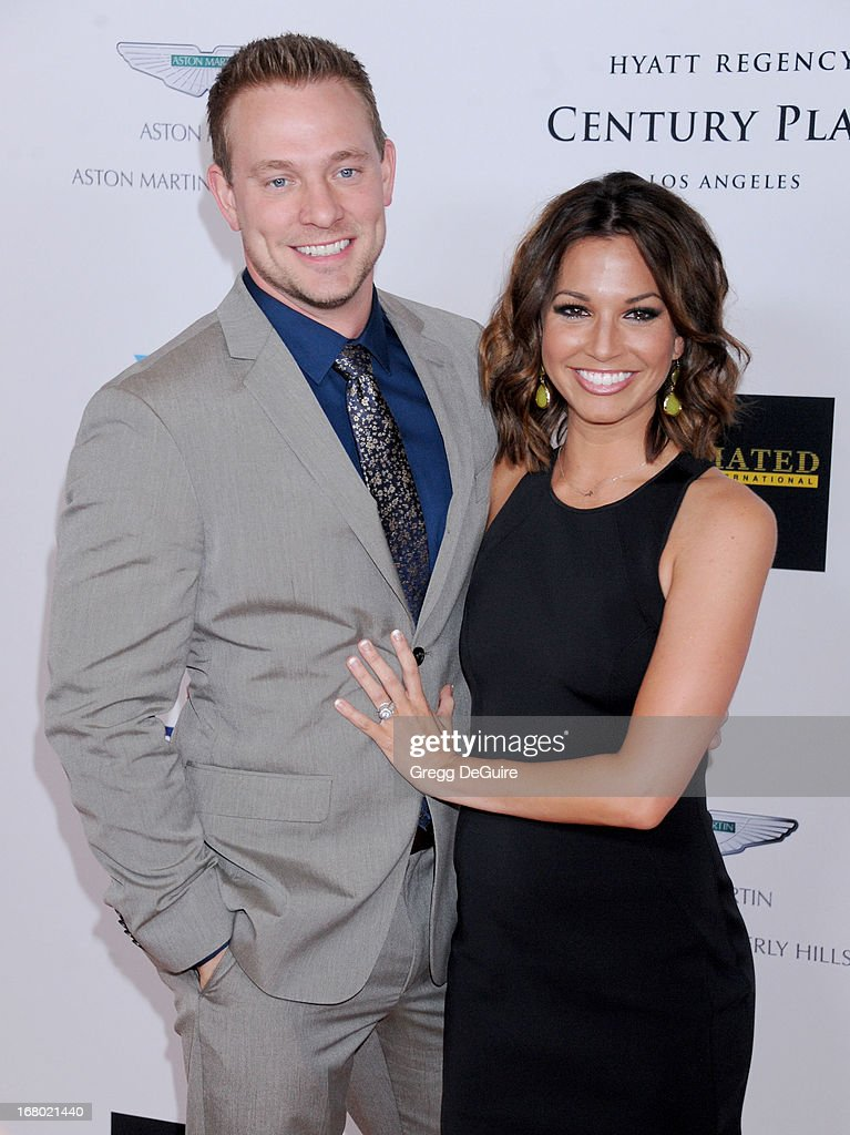 TV personality Melissa Rycroft and Tye Strickland arrive at the 20th Annual Race To Erase MS Gala 'Love To Erase MS' at the Hyatt Regency Century Plaza on May 3, 2013 in Century City, California.