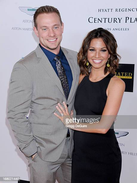 TV personality Melissa Rycroft and Tye Strickland arrive at the 20th Annual Race To Erase MS Gala 'Love To Erase MS' at the Hyatt Regency Century...