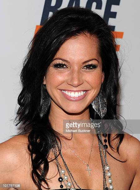 TV personality Melissa Rycroft arrives at the 17th Annual Race to Erase MS event cochaired by Nancy Davis and Tommy Hilfiger at the Hyatt Regency...