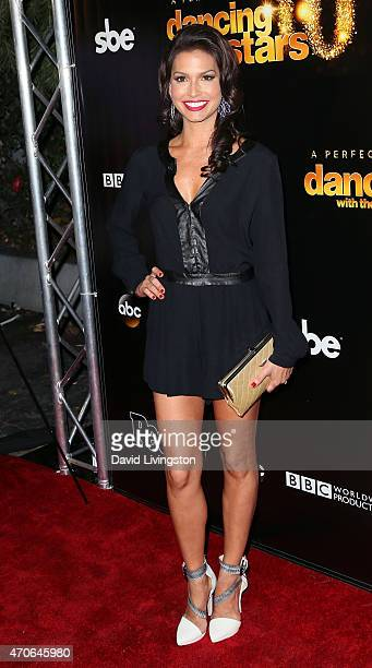 TV personality Melissa Rycroft attends the 10th anniversary of ABC's 'Dancing with the Stars' at Greystone Manor on April 21 2015 in West Hollywood...