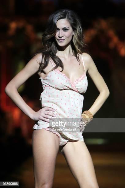 TV personality Melissa Satta attends the Intimissimi Spring/Summer 2010 Fashion Show on January 20 2010 in Dossobuono near Verona Italy