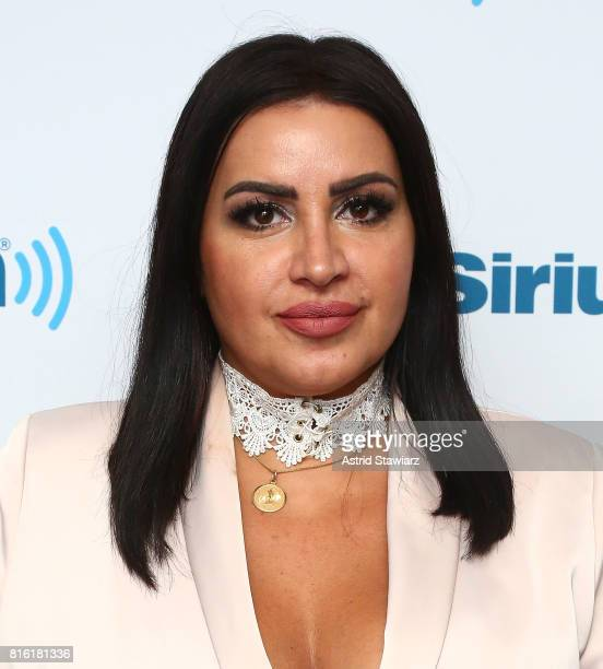 TV personality Mercedes Javid visits the SiriusXM Studios on July 17 2017 in New York City