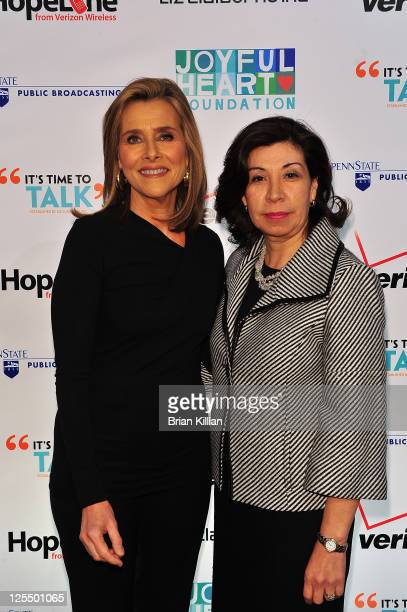 TV personality Meredith Vieira and Commissioner of the Mayor's Office to Combat Domestic Violence Yolanda Jimenez attend a screening of 'Telling...
