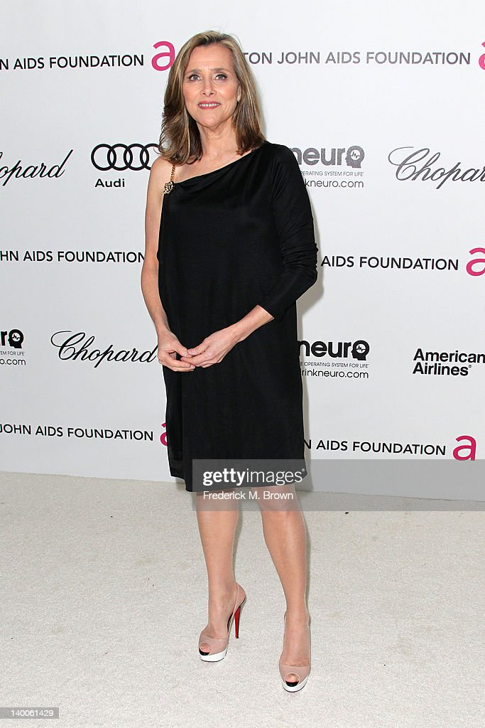 TV personality Meredith Vieira arrives at the 20th Annual Elton John AIDS Foundation's Oscar Viewing Party held at West Hollywood Park on February 26, 2012 in West Hollywood, California.
