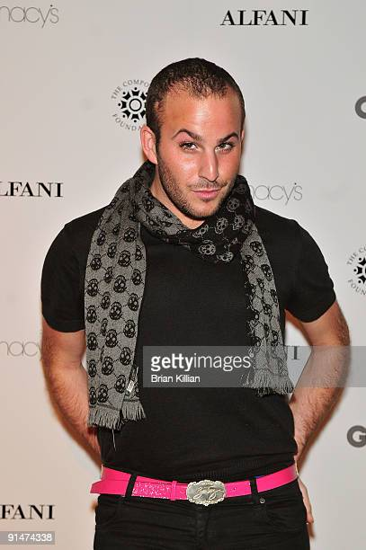 TV personality Micah Jesse attends the GQ and ALFANI RED Night of Glamour and Giving at the Stephen Weiss Studio on October 5 2009 in New York City