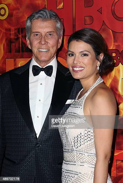 TV personality Michael Buffer and wife Christine Buffer attend HBO's Official 2015 Emmy After Party at The Plaza at the Pacific Design Center on...