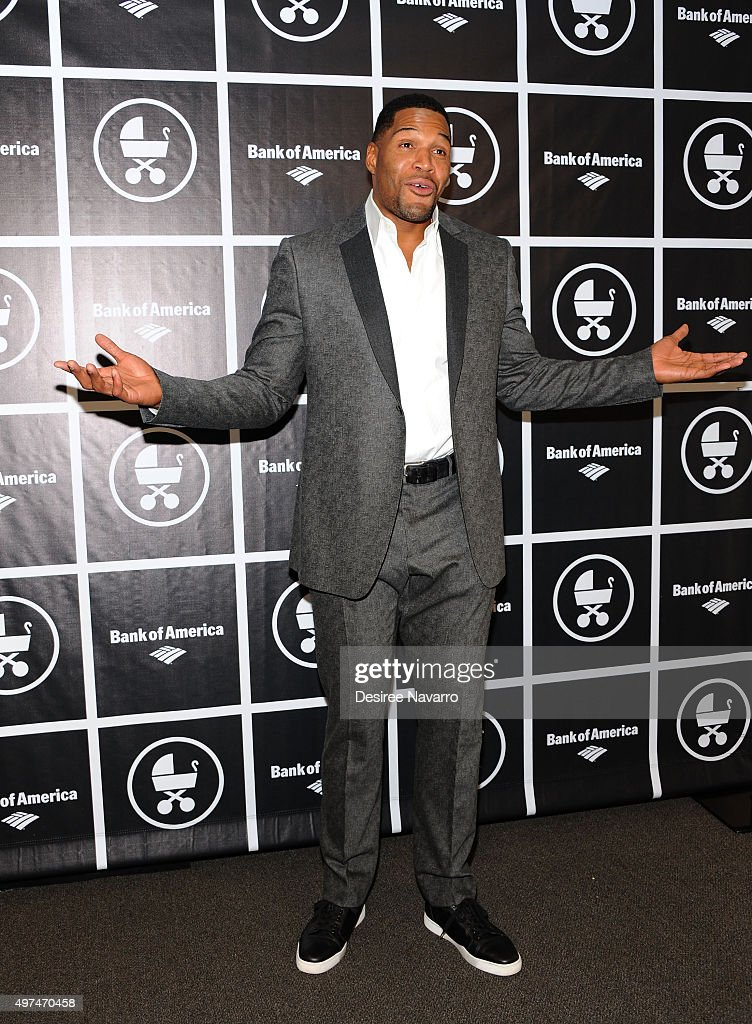 TV personality Michael Strahan attends Baby Buggy's 15 Year Celebration at The Beacon Hotel on November 16, 2015 in New York City.